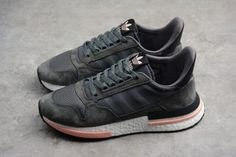 4e66aa39c adidas ZX500 RM Boost Grey Five Footwear White Clear Orange B42217  Sneakers-1 Adidas Sneakers