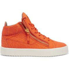 Giuseppe Zanotti May snake-effect leather high-top sneakers
