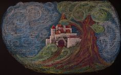 Grade Impressions - Illustration to a fairy tale (Per, Pål, og Espen Askeladden) Blackboard Drawing, Chalkboard Drawings, Crayon Drawings, Chalk Drawings, Blackboards, Chalk Art, Grade 1, Fairy Tales, Watercolor