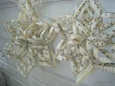 Paper Snowflakes from old sheet music Sheet Music Crafts, Old Sheet Music, Music Paper, Music Sheets, Song Sheet, Christmas Holidays, Christmas Decorations, Christmas Ornaments, Christmas Ideas