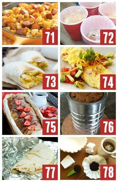 Quick and Easy Camping Recipe Ideas for Breakfast, Dinner and Dessert! These camping ideas will have everyone in your family loving the outdoors and cooking over a fire! group camping meals, hobo dinner camping campfire foods, meals for camping easy Camping Meals, Camping Hacks, Camping Recipes, Camping Dishes, Backpacking Recipes, Group Camping, Camping Cabins, Camping Packing, Camping Activities