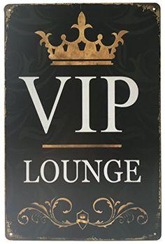 """MOOCO VIP Lounge Vintage Tin Sign 8"""" X 12"""" MOOCO"""