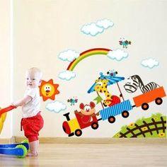 gorgeous 40 Luxury Wall Art Design Ideas For Your Kids Room To Have Kids Room Murals, Kids Room Paint, Kids Canvas Art, Art Wall Kids, Baby Room Decor, Nursery Decor, Kindergarten Design, Scandinavian Nursery, Kid Toy Storage