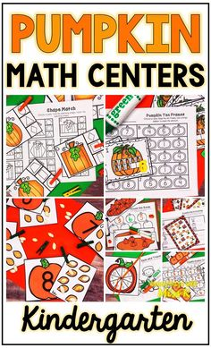 Your students will love these Kindergarten Pumpkin Math Centers! This package includes 7 math centers to use during fall! Students can complete these centers independently while you work with small groups or you can use them during guided reading! Kindergarten Curriculum, Homeschool Math, Teaching Numbers, Teaching Math, Math Stations, Math Centers, Math Resources, School Resources, Numbers For Kids