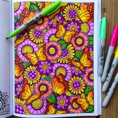 Adult Coloring Book Inkspirations Animal by PaisleyandHazel