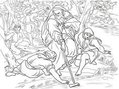 Elijah and King Ahab Coloring page   Coloring pages, Bible ...
