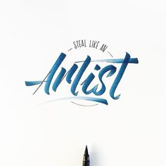 Steal Like an Artist via @stephanelopes #brushtype #typematters #todaystype #goodtype #thedailytype #typegang by brush_type