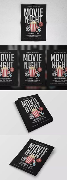Happy Hour Beer Promotion Flyer \/ Poster Template AI, PSD - A4 - movie night flyer template