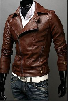 Handmade brown Leather Jacket men leather jacket by Besteshop, looks great. On a men like myself Brown Leather Jacket Men, Leather Men, Men's Leather Jackets, Biker Leather, Custom Leather, Pink Leather, Real Leather, Sharp Dressed Man, Well Dressed Men