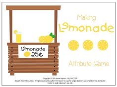 Lemonade attributes game