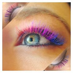 Pin for Later: Add a Wink of Color to Your Lashes With Rainbow Extensions