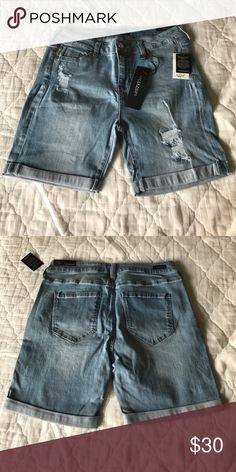 Liverpool Distressed Skinny Jean Shorts Rocker girl meets vogue chic in these distressed skinny jeans!!! Liverpool Jeans Company Shorts Jean Shorts