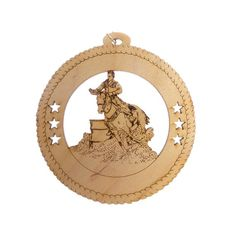 Looking for that perfect Equestrian ornament for your favorite Barrel Racer?  This unique Horse ornament is the perfect addition to any Christmas tree.