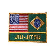 USA-Brazil Jiu-Jitsu Flags Patch c08126