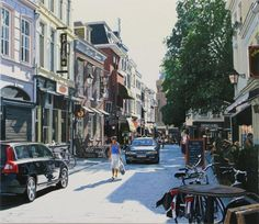 Sint Janstraat, Breda Street View, Painting, Pictures, Painting Art, Paintings