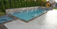 Stamped Pool View Site Elite Crete Design Inc Oshawa, ON