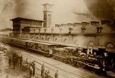 Lincoln's Funeral Train in 1865.  Still travels through the country on the anniversary of its procession: See Ghosts and Haunts of the Civil War, Chapter 32:  http://www.booksamillion.com/p/Ghosts-Haunts-Civil-War/Christopher-Kiernan-Coleman/9781558537859?id=5826563501315