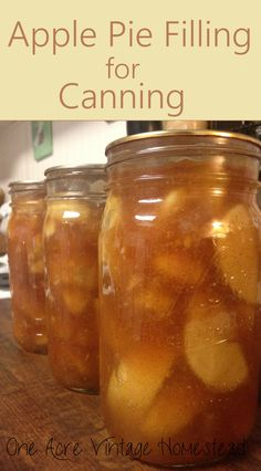 Apple Pie Filling - A Water Bath Food Preservation Recipe pies pies recipes dekorieren rezepte Canning Apple Pie Filling, Homemade Apple Pie Filling, Homemade Pie, Cooked Apple Pie Filling Recipe, Apple Pie Jam, Apple Sauce, Canning Apples, Canning Tips, Canning Water