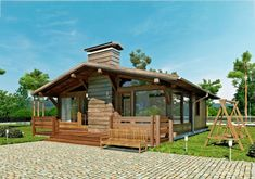 Metal Building House Plans, Cabin House Plans, Tiny House Cabin, Tiny House Plans, Cabin Homes, Tiny Houses, Log Houses, House 2, Cottage Homes