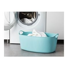 IKEA - TORKIS, Flexible laundry basket, in/outdoor, Comfortable to carry because the entire clothes basket is made of soft, flexible plastic.Perfect for transporting damp clothes from the washer, or collecting dry clothes for ironing.Suitable for both indoor and outdoor use.