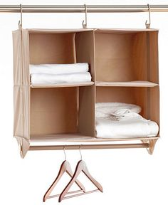 Neatfreak Cubby Organizer, 4 Shelves with Hanging Bar ClosetMAX - Cleaning & Organizing - For The Home - Macy's----could use to seperate bed from view Trailer Storage, Camper Storage, Truck Storage, Trailer Decor, Boat Storage, Towel Storage, Small Storage, Extra Storage, Storage Ideas