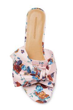 Calista Slide | Rebecca Minkoff, slides shoes, slides outfit, slides cute, slides leather, slides designer, slides pink, slides floral