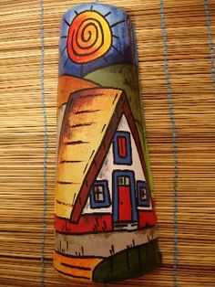 Cor e Vontade: Telhas pintadas Glass Painting Designs, Paint Designs, Mosaic Bottles, Diy And Crafts, Arts And Crafts, Bamboo Art, Horse Drawings, Small Paintings, Tile Art