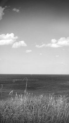 Sea Cloud Flower Nature Old Nostalgia Dark Bw #iPhone #5s #wallpaper