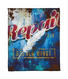 """""""Broken Wings"""" Fleece Throw"""