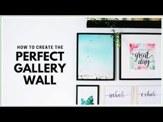 How to Create & Arrange the Perfect Gallery Wall Framed Art Prints, Framed Artwork, Canvas Prints, Wall Collage, Wall Art, Photo Canvas, Gallery Wall, Create, Planners
