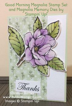 Christina Barnes - Australian Independent Stampin' Up! Magnolia Flower, Romance, Ink Pads, Scrapbook Cards, Scrapbooking, Paper Cards, Flower Cards, Stampin Up Cards, I Card