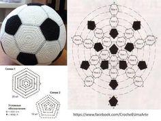 Fußball Spiel - Häkelschrift - - - - Bal haken met deze diagrammen
