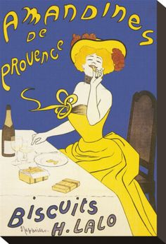 Amandines de Provence Stretched Canvas Print by Leonetto Cappiello at Art.com..... for the nook wall?