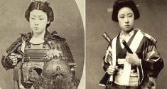 Contrary to popular belief, female samurai existed and were just as fierce and skillful as their male counterparts. Called the onna bugeisha, these deadly warriors were similarly trained in combat, self-defense and skillful use of weaponry. Female Samurai, Samurai Warrior, Deadliest Warrior, Edo Period Japan, Sengoku Period, Japanese Literature, Japanese Blades, Warrior Costume, Female Fighter