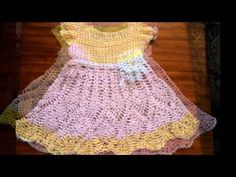 Vestidos de bebé de ganchillo. Crochet baby dress. - YouTube