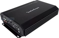 Rockford Fosgate Prime R250-1 250 Watt Mono Amplifier. Mono amplifier delivers 250 watts at 2 ohms, 150 watts at 4 ohms. Variable low pass crossover with 12dB/octave slope and 40Hz to 130Hz crossover point. Punch Bass adjustable bass level control of 0 to +12 dB centered at 45Hz. RCA inputs for signal level input and pass-through jacks for system building. The input gain control is preset to match the output of most source units.