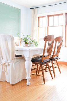 Painted White Farmhouse Table | via Ashlea of This Mamas Dance