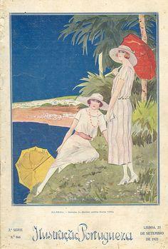 Ilustração Portuguesa, September 23 1922 - Cover by Gatochy, via Flickr