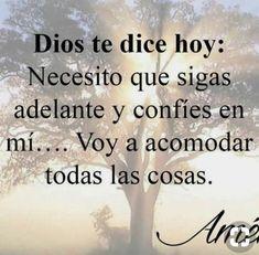 Sé fuerte God Prayer, Prayer Quotes, Faith Quotes, Bible Quotes, Amor Quotes, Bible Scriptures, Qoutes, Spanish Inspirational Quotes, Spanish Quotes