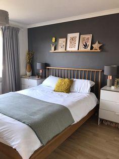 Silver And Grey Bedroom, Grey Bedroom Decor, Comfy Bedroom, Bedroom Wall Colors, Girls Bedroom, Night Bedroom, Bedroom Beach, Blue Bedroom, Bedroom Vintage
