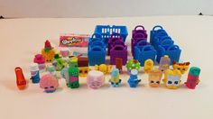 Lot of 35 Piece Shopkins Figures Toy Empty Baskets Kooky Cookie Candy Ultra Rare