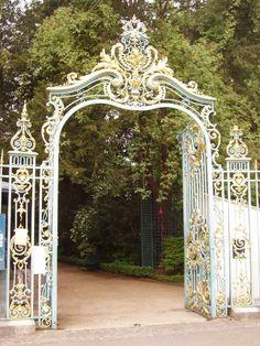 Belle Epoque Rococo Style Entrace Gate.