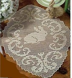 crochet doily table decoration center piece   Easter by UMKA11, $5.98