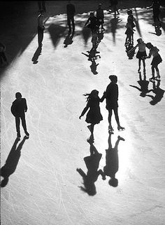 Benn Mitchell - Rockefeller Center Ice Rink, New York, 1951.