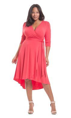 Winona Hi-Lo Wrap Dress
