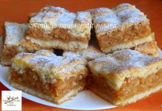 Fantastický koláčik, vyskúšajte ho napríklad z nových jabĺčok. Hungarian Cake, Hungarian Recipes, Bakery Recipes, Dessert Recipes, Cooking Recipes, Apple Recipes, Sweet Recipes, Pretzels Recipe, Bread And Pastries
