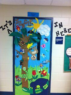 Classroom Door - It's a Jungle in Here!