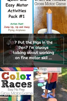 ? Put the Pigs in the Pen? I'm always talking about working on fine motor skills but gross motor skills are just as important! Here is an easy fun activity that will keep your little one busy for a while! . . . #grossmotorskills #grossmotordevelopment #toddleractivities #keepingtoddlersbusy #activitiesforkids #bordombuster #farmtheme - Today Pin Gross Motor Activities, Gross Motor Skills, Toddler Activities, Activities For Kids, Color Race, Farm Theme, Activity Games, Pigs, Easy