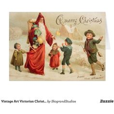 Vintage Art Victorian Christmas Santa Customize it Card ($3.25) ❤ liked on Polyvore featuring home, home decor and stationery