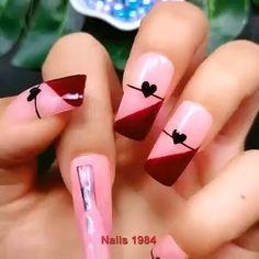 Nail Art Hacks, Gel Nail Art, Nail Art Diy, Easy Nail Art, Nail Art Designs Videos, Best Nail Art Designs, Pretty Nail Art, Cute Nail Art, Hallographic Nails